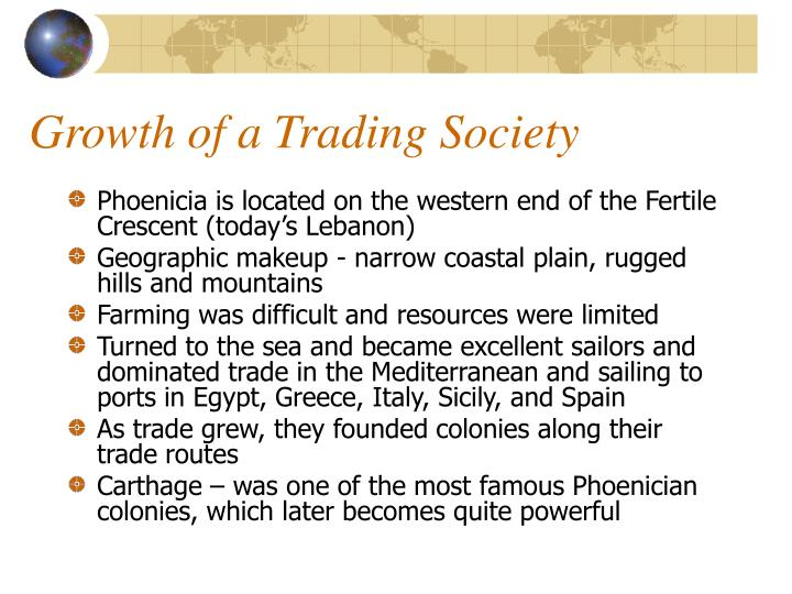 Growth of a Trading Society