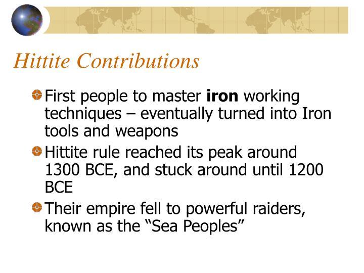 Hittite Contributions
