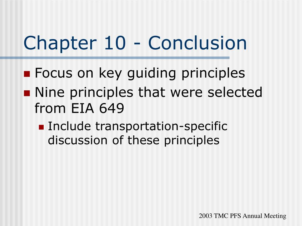 Chapter 10 - Conclusion