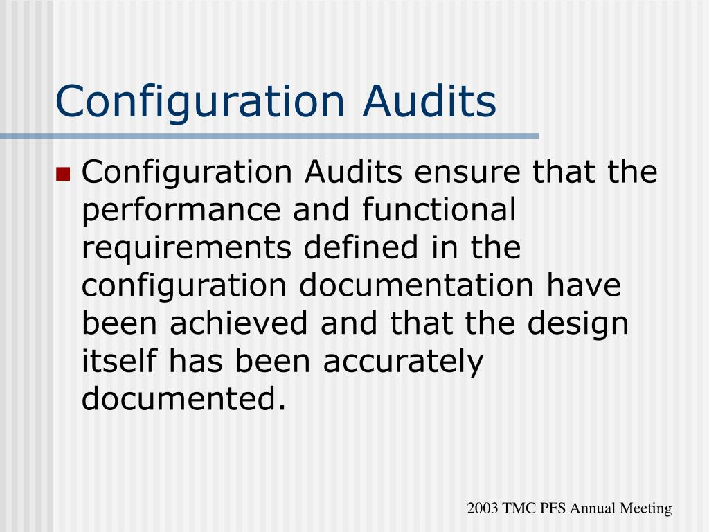 Configuration Audits