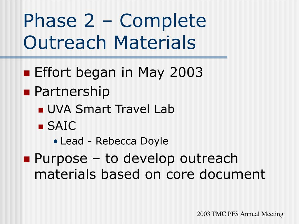 Phase 2 – Complete Outreach Materials