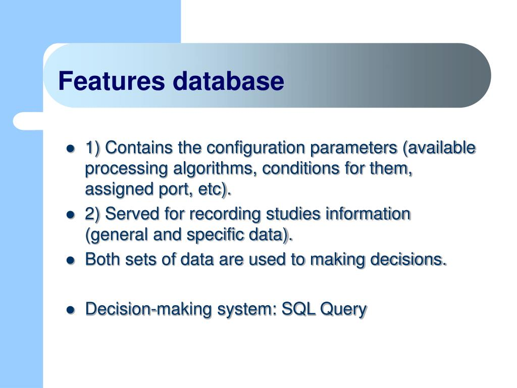 Features database