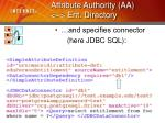 attribute authority aa ent directory17