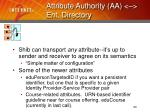 attribute authority aa ent directory20