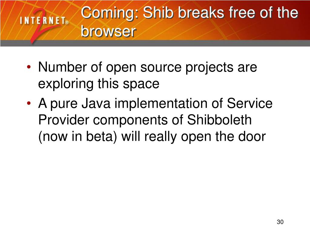 Coming: Shib breaks free of the browser