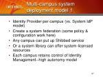 multi campus system deployment model 127
