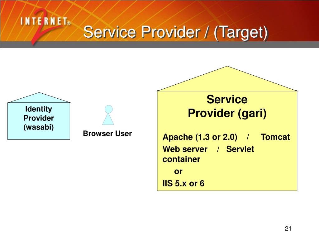 Service Provider / (Target)