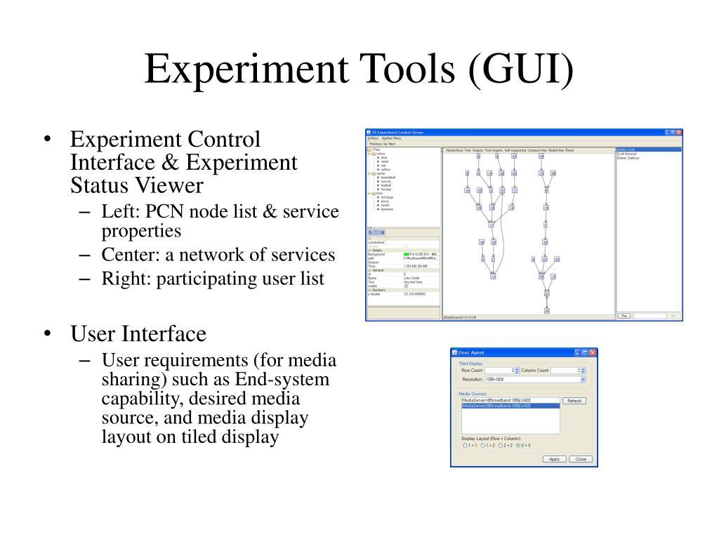 Experiment Tools (GUI)