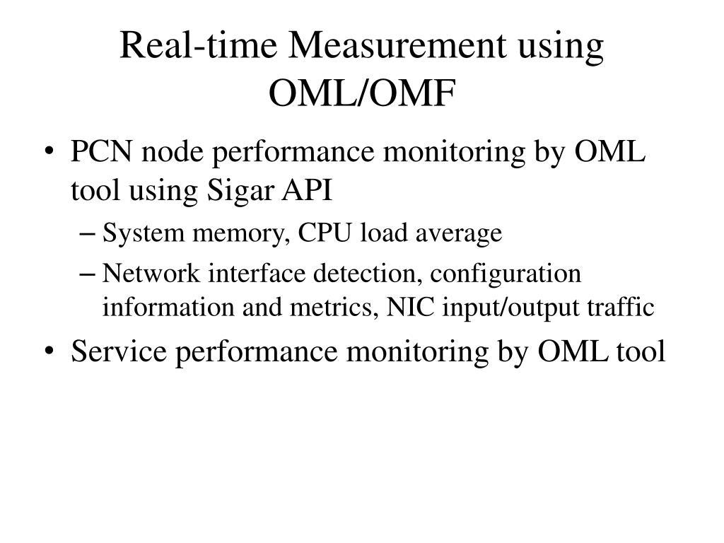Real-time Measurement using OML/OMF