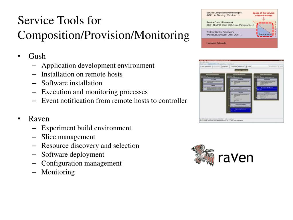 Service Tools for Composition/Provision/Monitoring