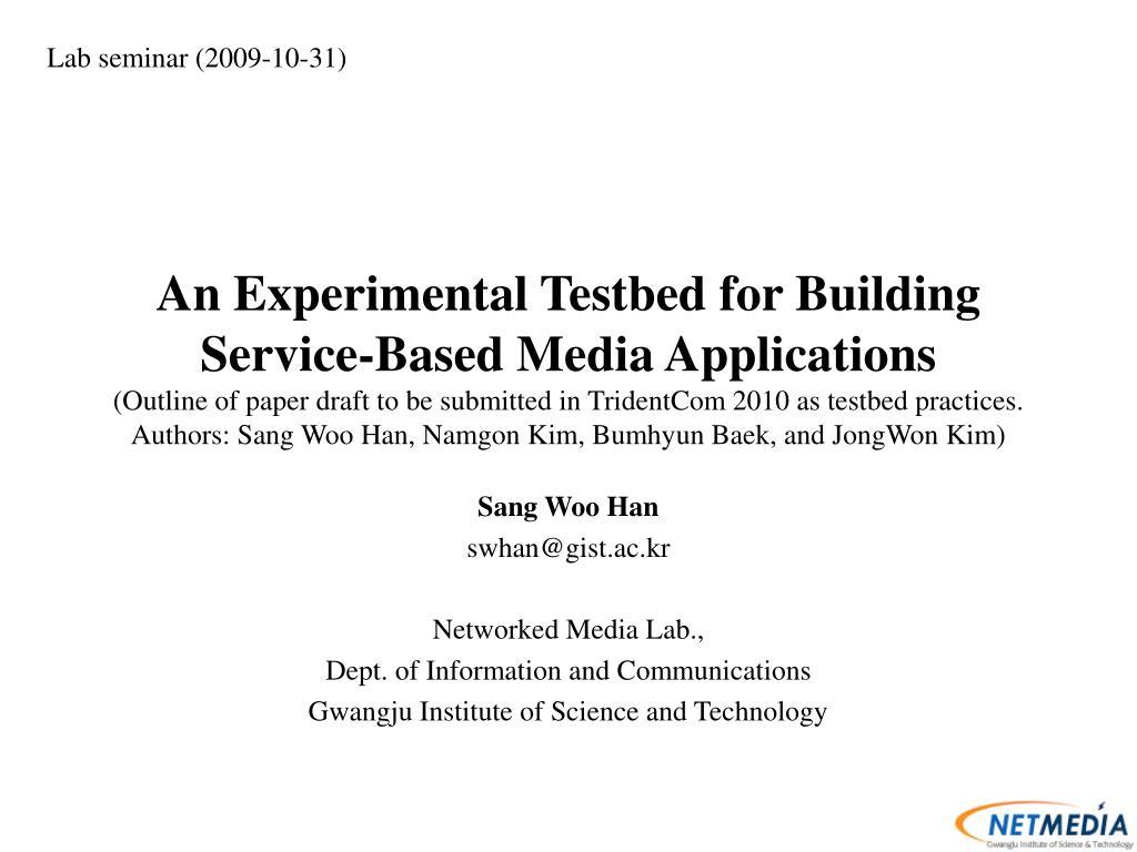 Lab seminar (2009-10-31)