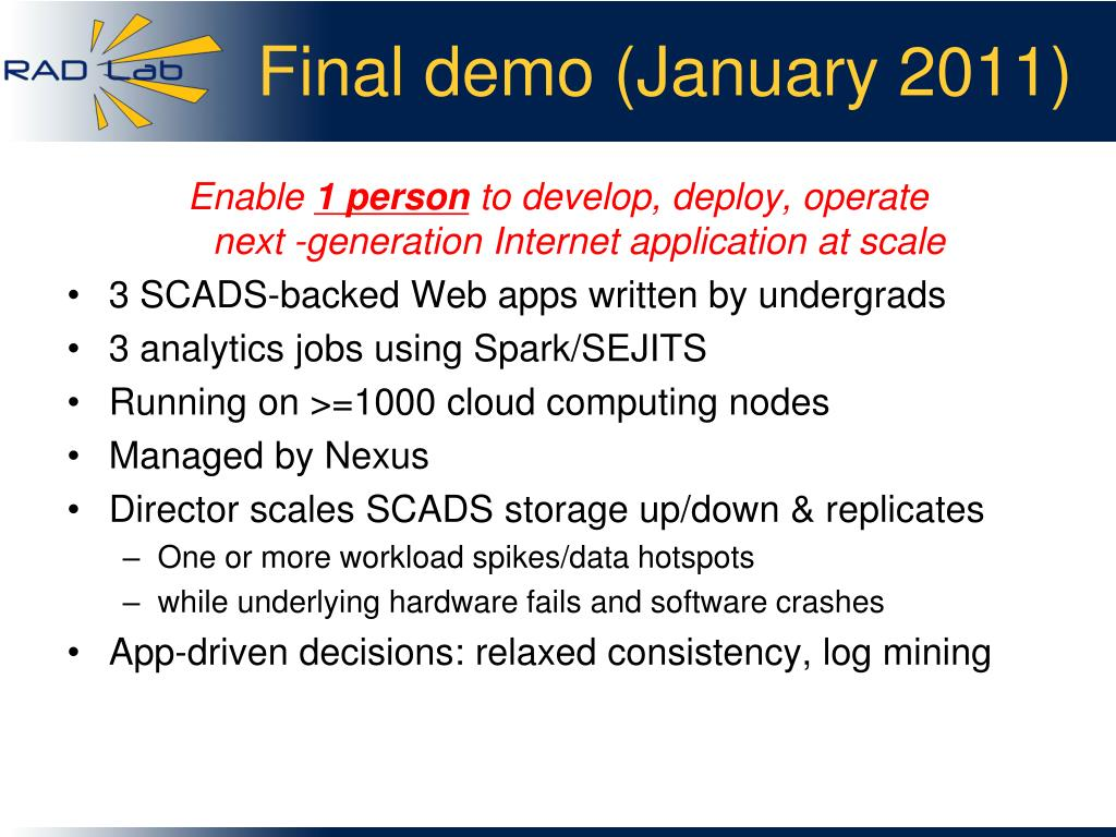 Final demo (January 2011)