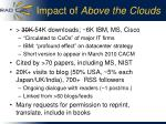 impact of above the clouds