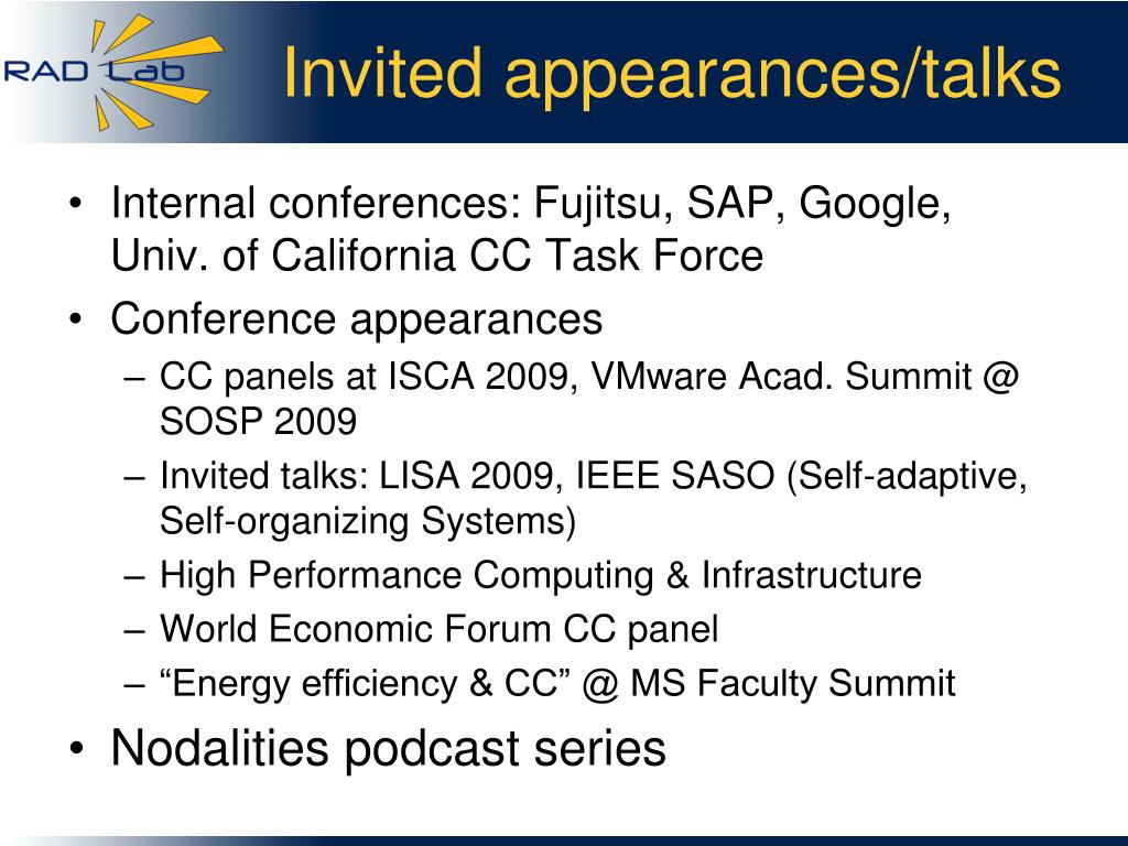 Invited appearances/talks