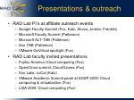 presentations outreach