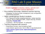 rad lab 5 year mission unchanged since 2006 except blue text