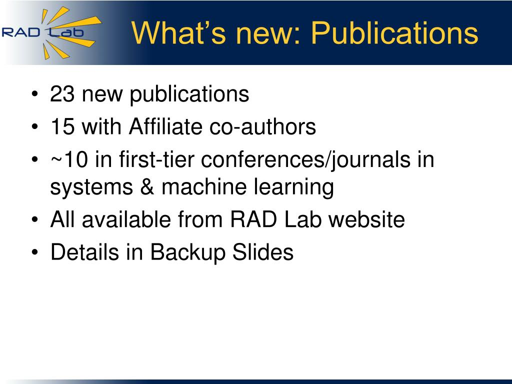 What's new: Publications