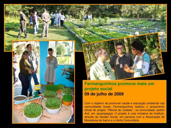 Farmanguinhos promove mais um projeto social