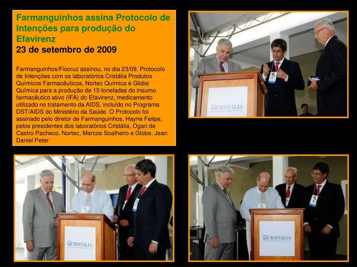 Farmanguinhos assina Protocolo de Intenções para produção do Efavirenz