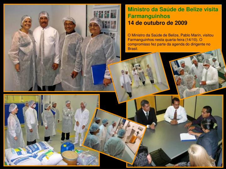 Ministro da Saúde de Belize visita Farmanguinhos