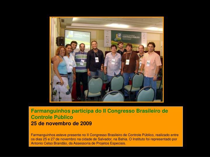Farmanguinhos participa do II Congresso Brasileiro de Controle Público