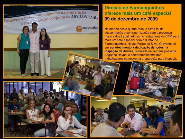Direção de Farmanguinhos oferece mais um café especial