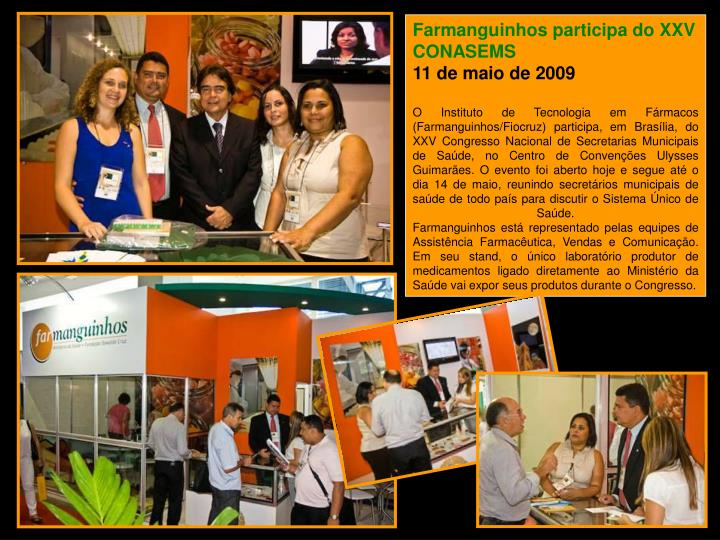 Farmanguinhos participa do XXV CONASEMS