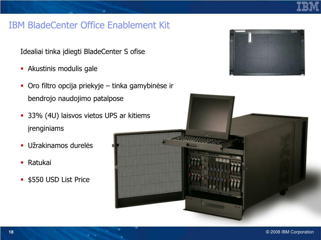 IBM BladeCenter Office Enablement Kit