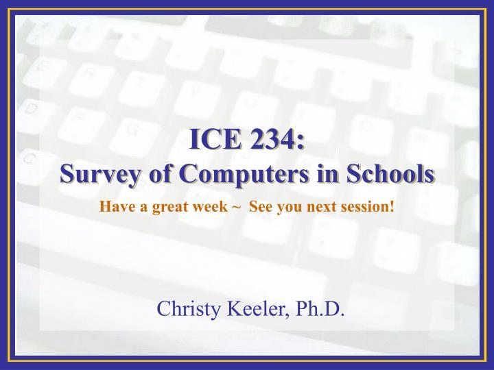 ICE 234: