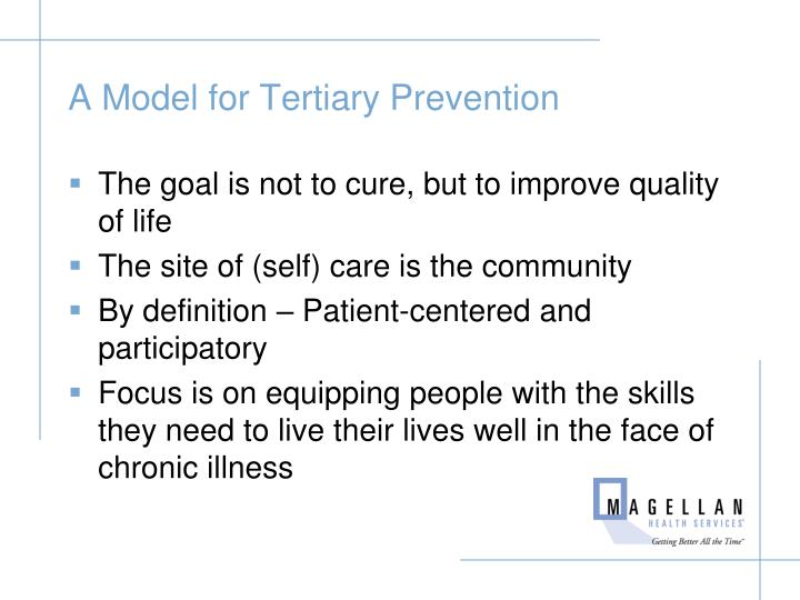 A Model for Tertiary Prevention