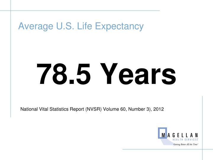 Average U.S. Life Expectancy