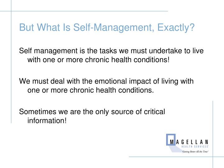 But What Is Self-Management, Exactly?