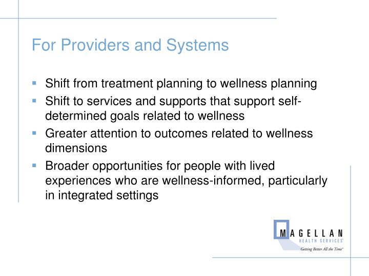 For Providers and Systems