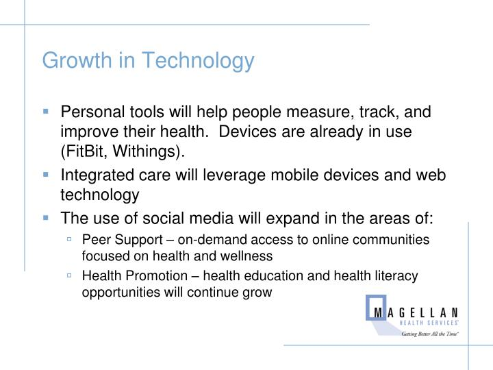 Growth in Technology