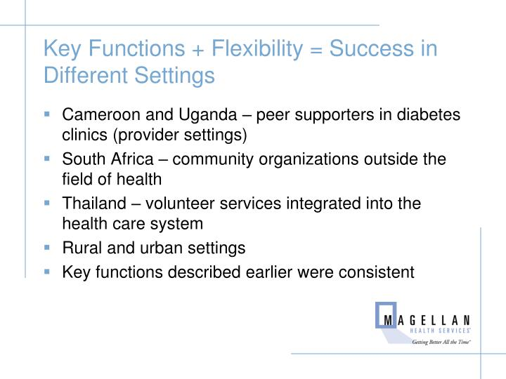 Key Functions + Flexibility = Success in Different Settings