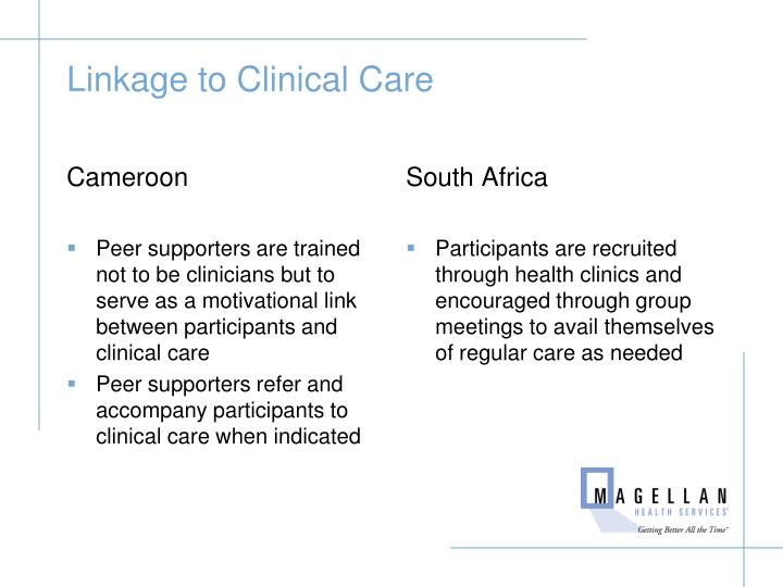 Linkage to Clinical Care