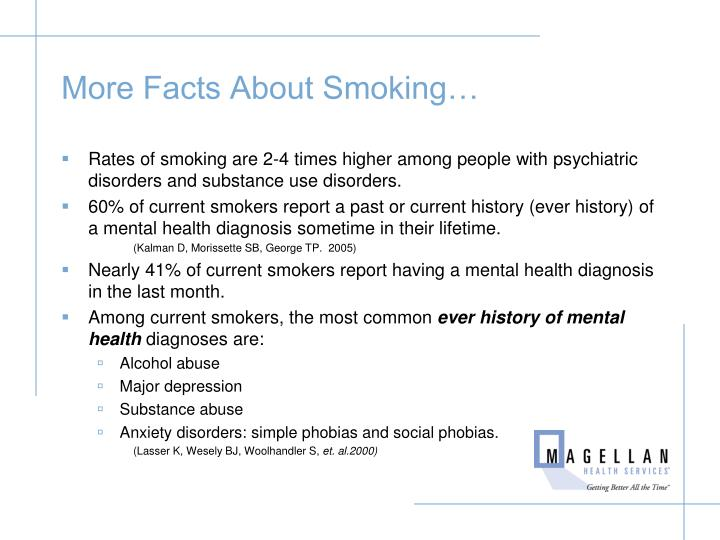 More Facts About Smoking…