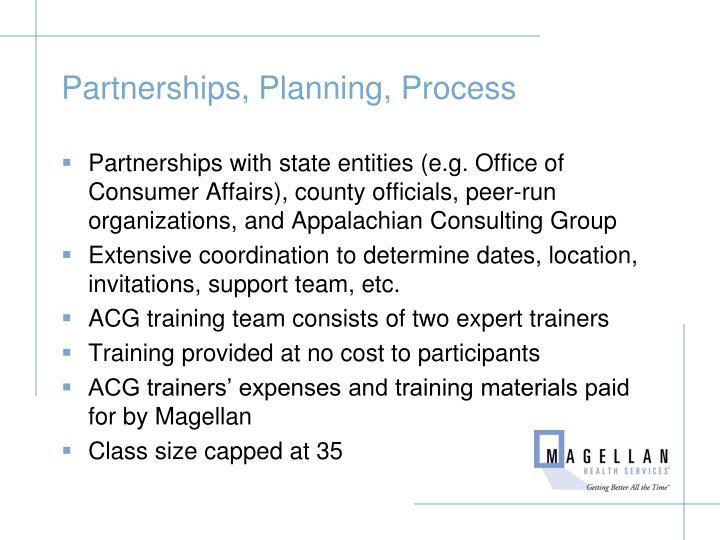 Partnerships, Planning, Process