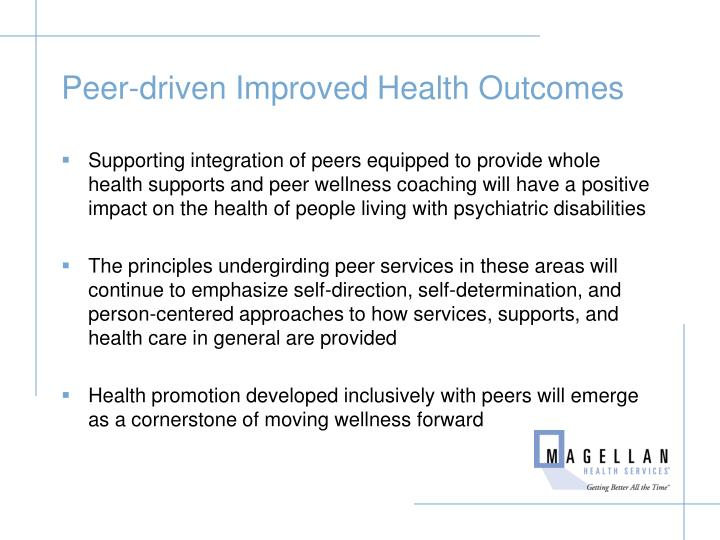 Peer-driven Improved Health Outcomes
