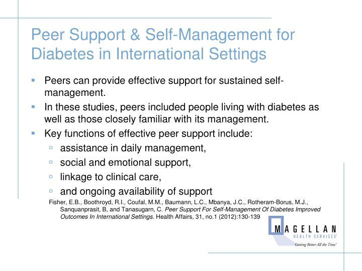 Peer Support & Self-Management for Diabetes in International Settings