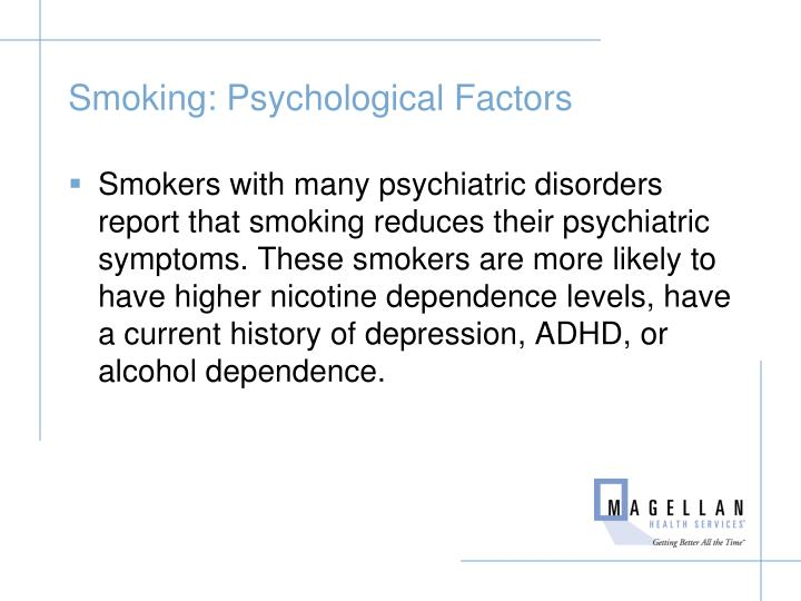 Smoking: Psychological Factors