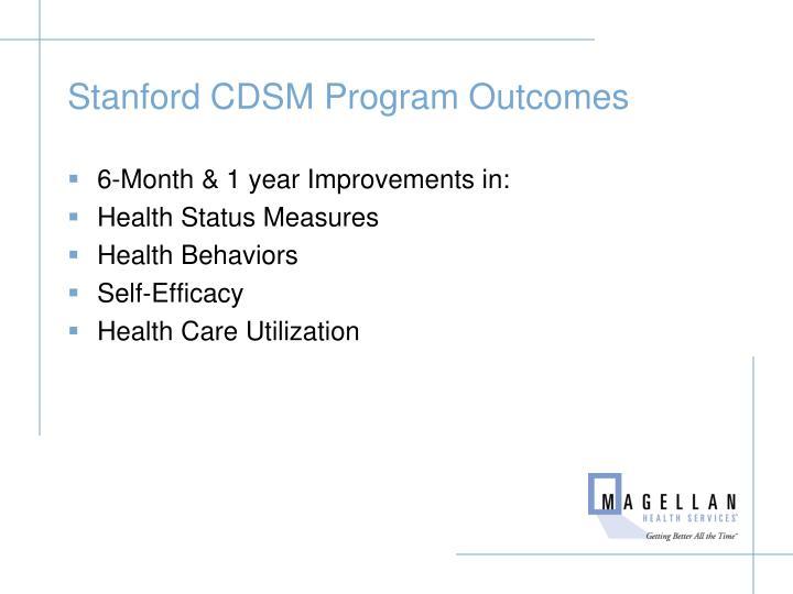 Stanford CDSM Program Outcomes