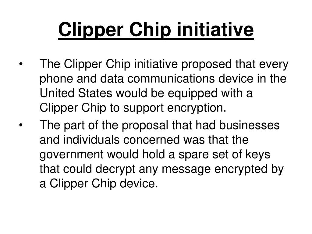 Clipper Chip initiative