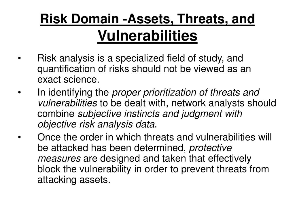 Risk Domain -Assets, Threats, and
