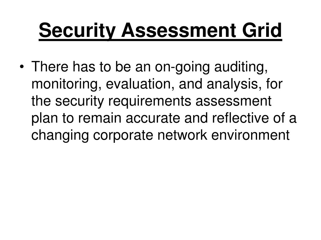 Security Assessment Grid