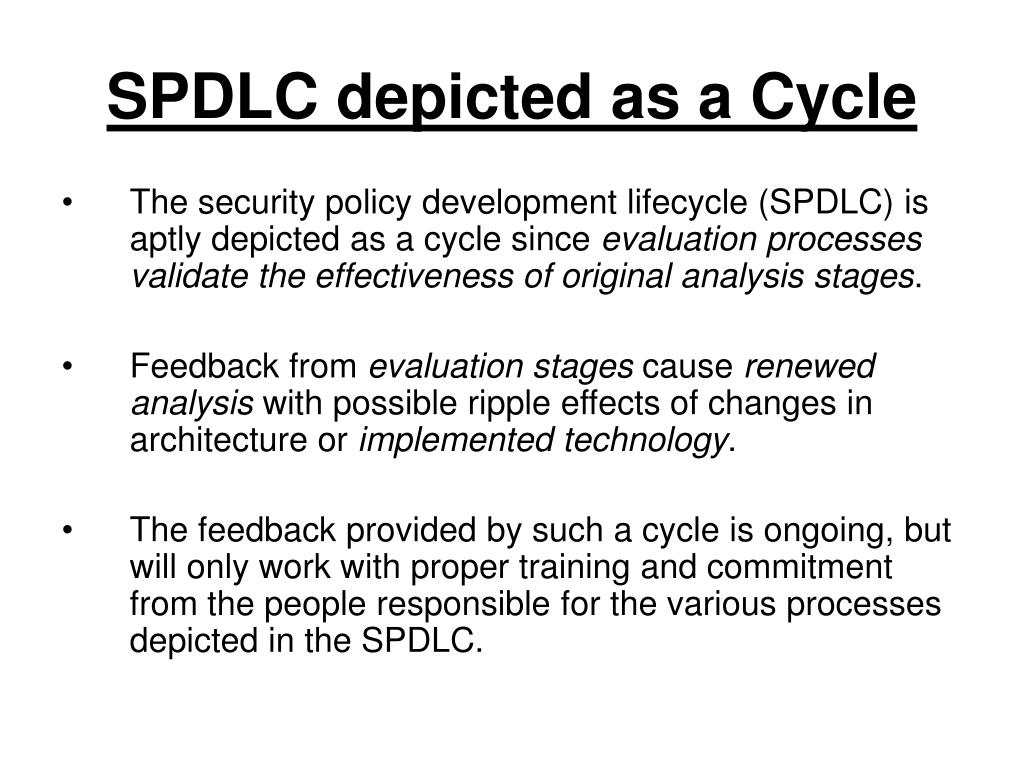 SPDLC depicted as a Cycle