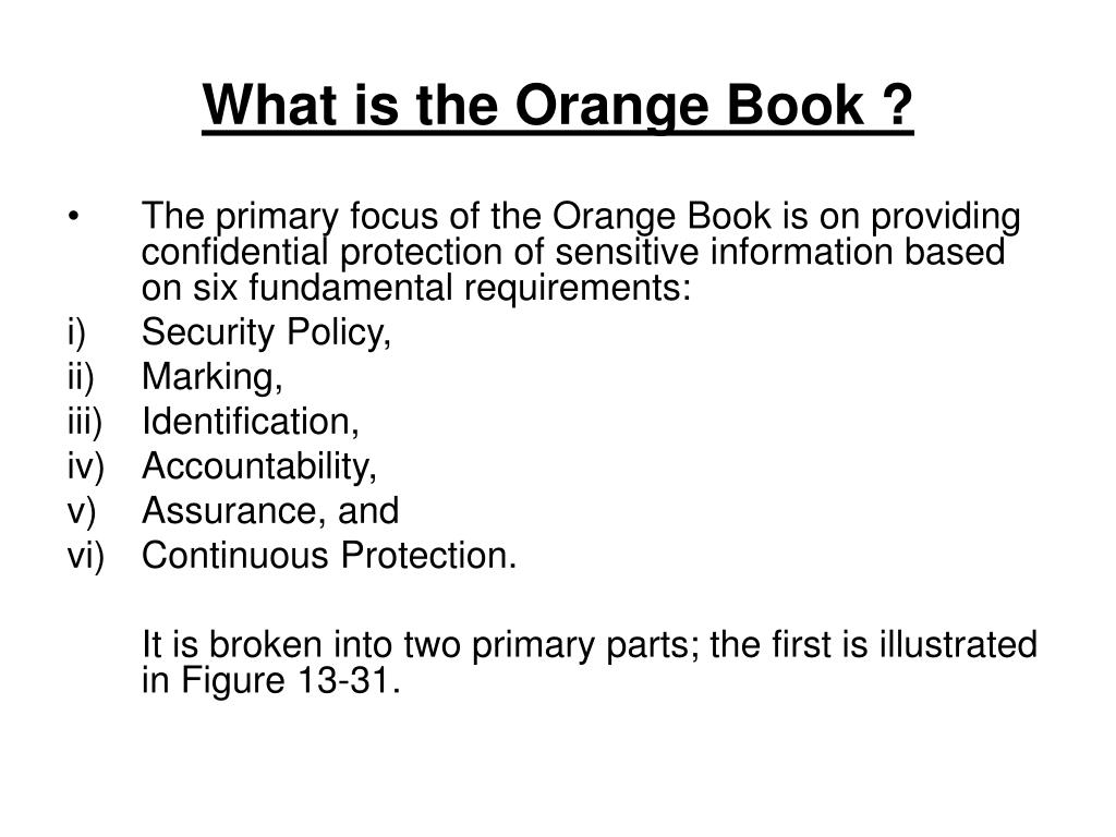 What is the Orange Book ?