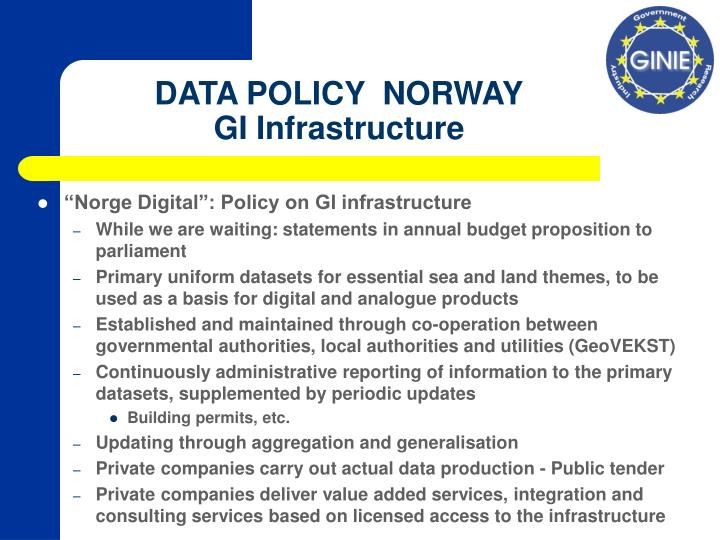 Data policy norway gi infrastructure l.jpg