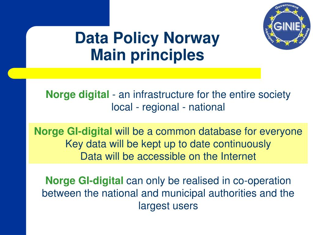 Data Policy Norway