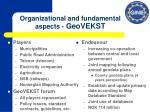 organizational and fundamental aspects geovekst